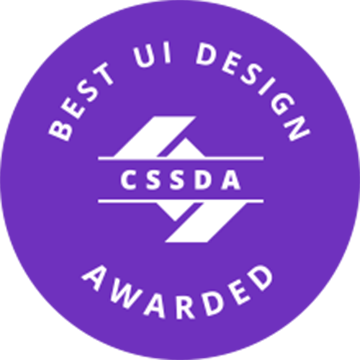 Klug, Creative and Digital Marketing Agency, won CSS Design Awards for Best UI Design